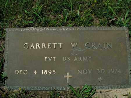 CRAIN  (VETERAN), GARRETT W. - Boone County, Arkansas | GARRETT W. CRAIN  (VETERAN) - Arkansas Gravestone Photos