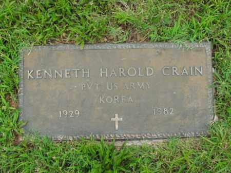 CRAIN  (VETERAN KOR), KENNETH HAROLD - Boone County, Arkansas | KENNETH HAROLD CRAIN  (VETERAN KOR) - Arkansas Gravestone Photos