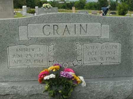 CRAIN, NORA GAYLOR - Boone County, Arkansas | NORA GAYLOR CRAIN - Arkansas Gravestone Photos