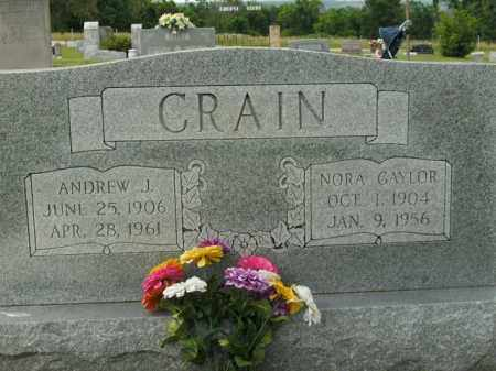 CRAIN, NORA - Boone County, Arkansas | NORA CRAIN - Arkansas Gravestone Photos