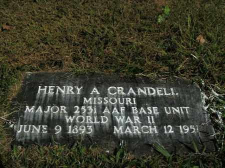 CRANDELL  (VETERAN WWII), HENRY A - Boone County, Arkansas | HENRY A CRANDELL  (VETERAN WWII) - Arkansas Gravestone Photos