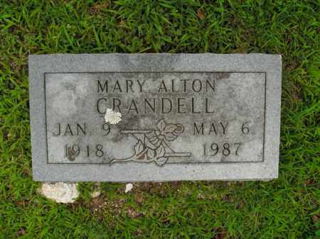CRANDELL, MARY ALTON - Boone County, Arkansas | MARY ALTON CRANDELL - Arkansas Gravestone Photos