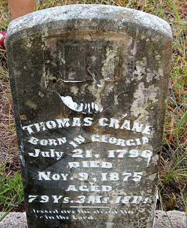 CRANE, THOMAS - Boone County, Arkansas | THOMAS CRANE - Arkansas Gravestone Photos