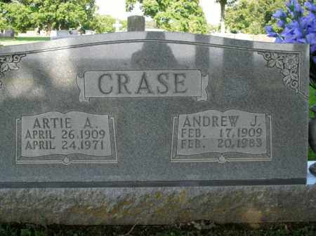 CRASE, ARTIE A. - Boone County, Arkansas | ARTIE A. CRASE - Arkansas Gravestone Photos