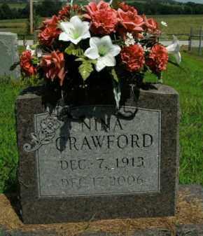 CRAWFORD, NINA - Boone County, Arkansas | NINA CRAWFORD - Arkansas Gravestone Photos