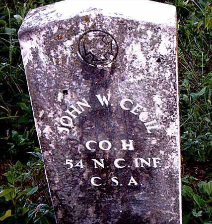 CECIL  (VETERAN CSA), JOHN W. - Boone County, Arkansas | JOHN W. CECIL  (VETERAN CSA) - Arkansas Gravestone Photos