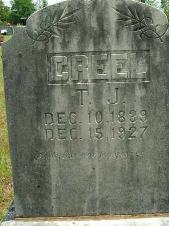 CREEL  (VETERAN CSA), THOMAS J - Boone County, Arkansas | THOMAS J CREEL  (VETERAN CSA) - Arkansas Gravestone Photos