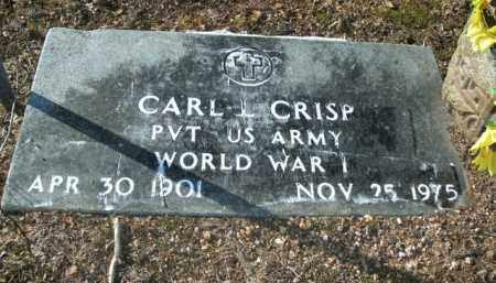 CRISP  (VETERAN WWI), CARL L - Boone County, Arkansas | CARL L CRISP  (VETERAN WWI) - Arkansas Gravestone Photos