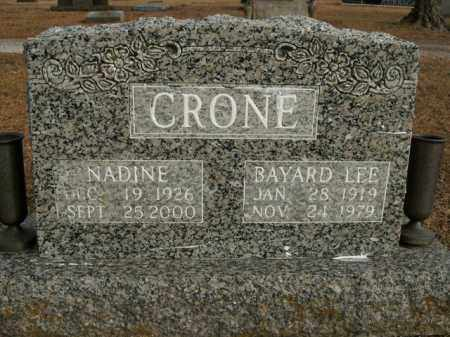CRONE, BAYARD LEE - Boone County, Arkansas | BAYARD LEE CRONE - Arkansas Gravestone Photos