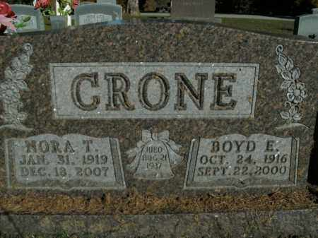 CRONE, BOYD E. - Boone County, Arkansas | BOYD E. CRONE - Arkansas Gravestone Photos