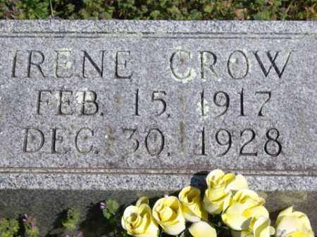 CROW, IRENE - Boone County, Arkansas | IRENE CROW - Arkansas Gravestone Photos