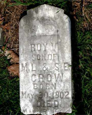 CROW, ROY V. - Boone County, Arkansas | ROY V. CROW - Arkansas Gravestone Photos