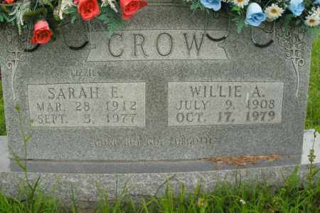 CROW, WILLIE A. - Boone County, Arkansas | WILLIE A. CROW - Arkansas Gravestone Photos