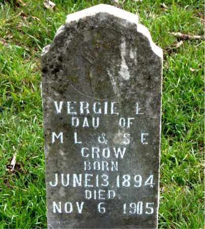 CROW, VERGIE E. - Boone County, Arkansas | VERGIE E. CROW - Arkansas Gravestone Photos