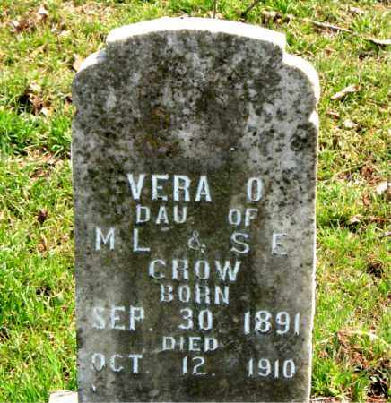 CROW, VERA  O. - Boone County, Arkansas | VERA  O. CROW - Arkansas Gravestone Photos