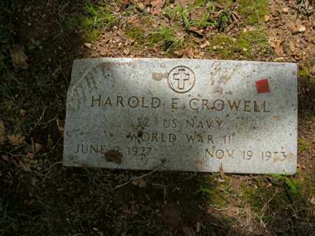 CROWELL  (VETERAN WWII), HAROLD E. - Boone County, Arkansas | HAROLD E. CROWELL  (VETERAN WWII) - Arkansas Gravestone Photos