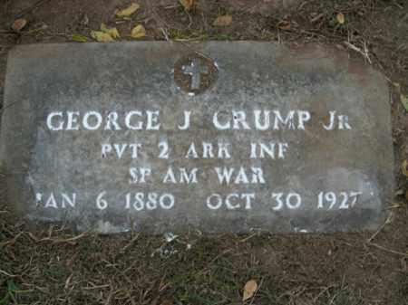 CRUMP, JR  (VETERAN SAW), GEORGE J - Boone County, Arkansas | GEORGE J CRUMP, JR  (VETERAN SAW) - Arkansas Gravestone Photos