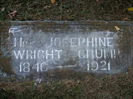 WRIGHT CRUMP, JOSEPHINE B. - Boone County, Arkansas | JOSEPHINE B. WRIGHT CRUMP - Arkansas Gravestone Photos