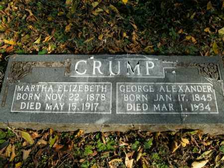 CRUMP, GEORGE ALEXANDER - Boone County, Arkansas | GEORGE ALEXANDER CRUMP - Arkansas Gravestone Photos