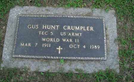 CRUMPLER  (VETERAN WWII), GUS HUNT - Boone County, Arkansas | GUS HUNT CRUMPLER  (VETERAN WWII) - Arkansas Gravestone Photos