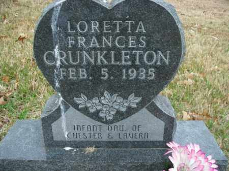 CRUNKLETON, LORETTA FRANCES - Boone County, Arkansas | LORETTA FRANCES CRUNKLETON - Arkansas Gravestone Photos