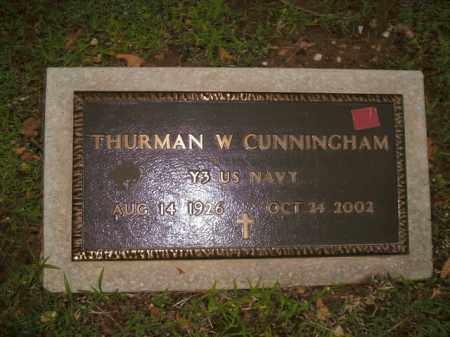 CUNNINGHAM  (VETERAN), THURMAN W. - Boone County, Arkansas   THURMAN W. CUNNINGHAM  (VETERAN) - Arkansas Gravestone Photos