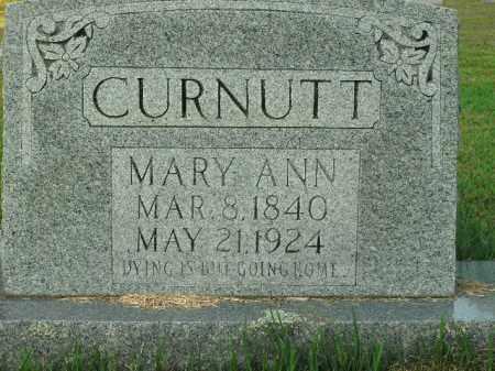 CURNUTT, MARY ANN - Boone County, Arkansas | MARY ANN CURNUTT - Arkansas Gravestone Photos
