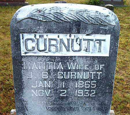 CURNUTT, MATITIA - Boone County, Arkansas | MATITIA CURNUTT - Arkansas Gravestone Photos