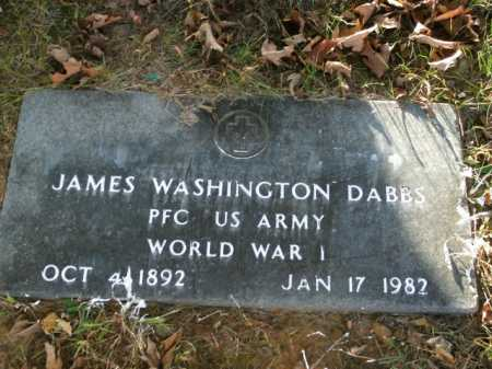 DABBS  (VETERAN WWI), JAMES WASHINGTON - Boone County, Arkansas | JAMES WASHINGTON DABBS  (VETERAN WWI) - Arkansas Gravestone Photos