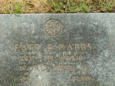 DABBS  (VETERAN WWII), EARL E. - Boone County, Arkansas | EARL E. DABBS  (VETERAN WWII) - Arkansas Gravestone Photos