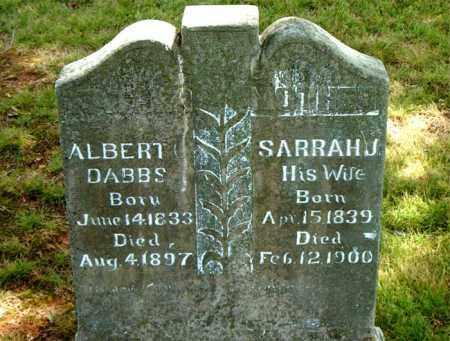 DABBS, SARRAH  J. - Boone County, Arkansas | SARRAH  J. DABBS - Arkansas Gravestone Photos