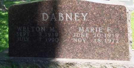 DABNEY, MARIE F - Boone County, Arkansas | MARIE F DABNEY - Arkansas Gravestone Photos