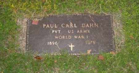 DAHN  (VETERAN WWI), PAUL CARL - Boone County, Arkansas | PAUL CARL DAHN  (VETERAN WWI) - Arkansas Gravestone Photos