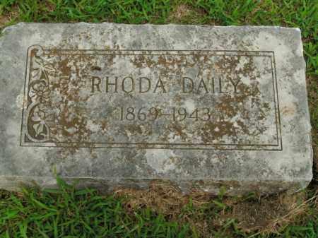 DAILY, RHODA - Boone County, Arkansas | RHODA DAILY - Arkansas Gravestone Photos
