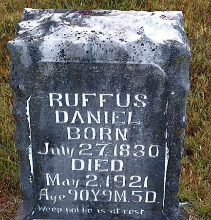 DANIEL, RUFFUS - Boone County, Arkansas | RUFFUS DANIEL - Arkansas Gravestone Photos