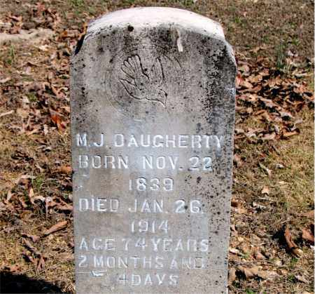 DAUGHERTY, M. J. - Boone County, Arkansas | M. J. DAUGHERTY - Arkansas Gravestone Photos