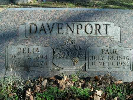 DAVENPORT, PAUL - Boone County, Arkansas | PAUL DAVENPORT - Arkansas Gravestone Photos