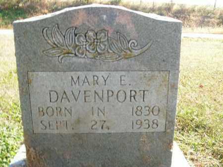 DAVENPORT, MARY E. - Boone County, Arkansas | MARY E. DAVENPORT - Arkansas Gravestone Photos