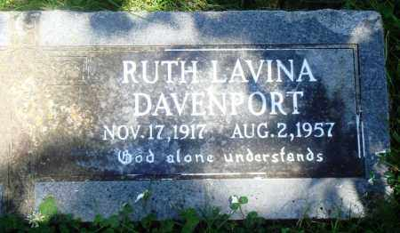 DAVENPORT, RUTH LAVINA - Boone County, Arkansas | RUTH LAVINA DAVENPORT - Arkansas Gravestone Photos