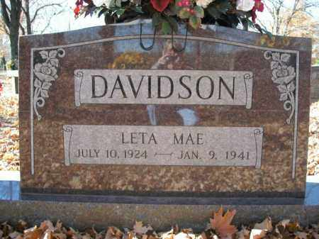 DAVIDSON, LETA MAE - Boone County, Arkansas | LETA MAE DAVIDSON - Arkansas Gravestone Photos