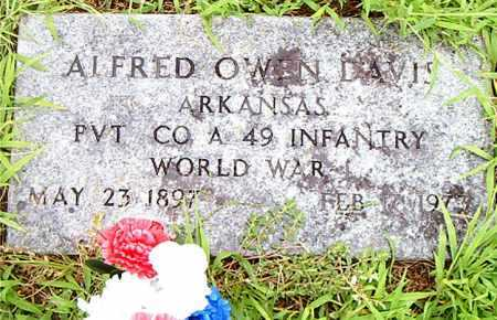 DAVIS  (VETERAN WWI), ALFRED OWEN - Boone County, Arkansas | ALFRED OWEN DAVIS  (VETERAN WWI) - Arkansas Gravestone Photos