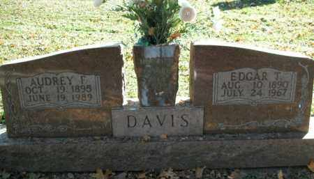 DAVIS, EDGAR T. - Boone County, Arkansas | EDGAR T. DAVIS - Arkansas Gravestone Photos