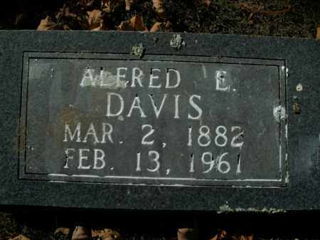 DAVIS, ALFRED E. - Boone County, Arkansas   ALFRED E. DAVIS - Arkansas Gravestone Photos