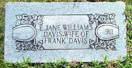 WILLIAMS DAVIS, E.  JANE - Boone County, Arkansas | E.  JANE WILLIAMS DAVIS - Arkansas Gravestone Photos
