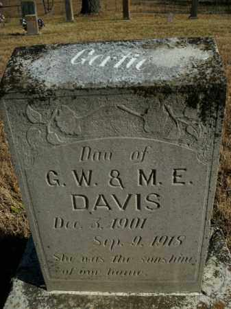 DAVIS, GERTIE - Boone County, Arkansas | GERTIE DAVIS - Arkansas Gravestone Photos