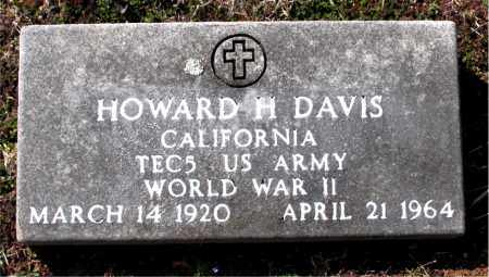 DAVIS  (VETERAN WWII), HOWARD  H - Boone County, Arkansas | HOWARD  H DAVIS  (VETERAN WWII) - Arkansas Gravestone Photos