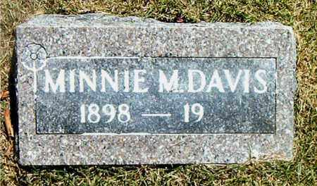 DAVIS, MINNIE M. - Boone County, Arkansas | MINNIE M. DAVIS - Arkansas Gravestone Photos