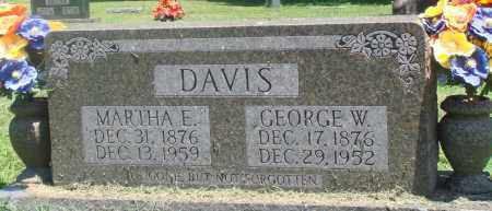 DAVIS, MARTHA E - Boone County, Arkansas | MARTHA E DAVIS - Arkansas Gravestone Photos