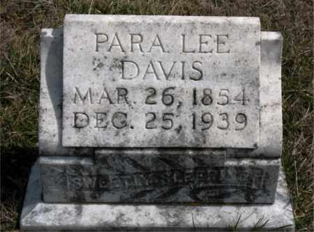 DAVIS, PARA LEE - Boone County, Arkansas | PARA LEE DAVIS - Arkansas Gravestone Photos