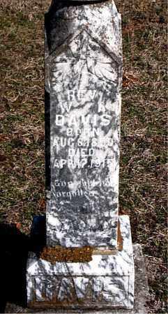 DAVIS, W. A. - Boone County, Arkansas | W. A. DAVIS - Arkansas Gravestone Photos